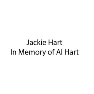 Text Jackie Hart In Memory of Al Hart